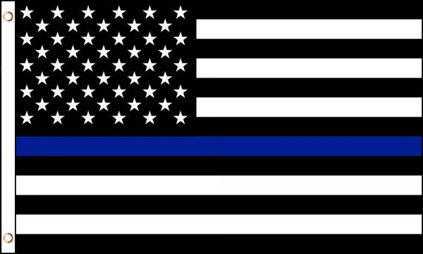 Thin Blue Line Flag 3'x5'