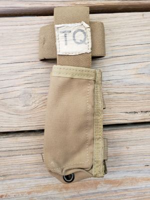 USED USMC- Tourniquet Pouch, TQ, C-A-T  Coyote **Call 910-347-3520 for pricing and availability**