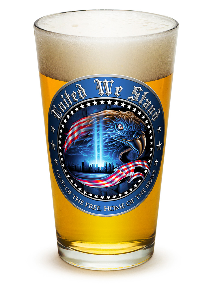PINT GLASS-United We Stand 16oz