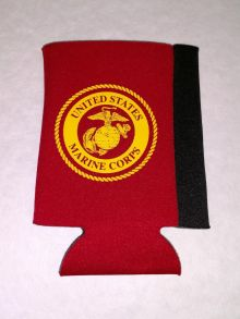 Can Koozie With Gold USMC Emblem